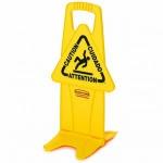 RUBBERMAID Stabiles Warnschild Symbol ?Caution? (Vorsicht) Gelb