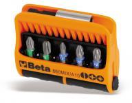 Beta Sortiment mit 10 Schraubeinsätzen und magnetischer Schraubeinsatzhalter, im Kunststoffkasten 860MIX/A10