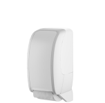 Metzger COSMOS abschließbarer Toilettenpapierspender aus ABS Kunststoff in weiß