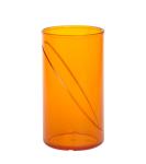 20 Stück Wasserglas 0, 25l SAN orange aus Kunststoff wiederverwendbar