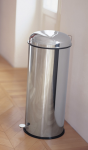 Graepel High Tech hochwertiger Tretabfalleimer Bullet aus Edelstahl 1.40166