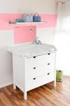 Mini Infrarot Wickeltischheizung 200W in rosa oder blau mit Wunschnamen Gravur