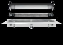 Franke Joulia-Inline JOBF3W Duschrinne zur wandseitigen Montage mit Wärmetauscher