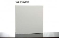 Infrarotdesign Tafelheizung Weiß 600 x 600 mm mit Alurahmen von Elbo Therm
