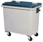 Rossignol Korok Mülltonne ohne Schiene mit 4 Rädern entspricht der Norm EN-840 1 bis 6