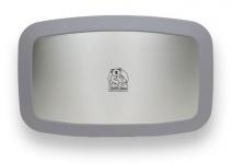 Horizontale Koala Wickelstation Grau KB200-01SS Edelstahlfront MICROBAN® Hygieneschutz