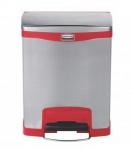 RUBBERMAID Slim Jim® Metall-Tretabfallbehälter mit Pedal an der Breitseite 30 L