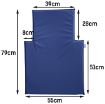 Wickeltisch-Auflage Owo in blau oder weiß Timkid