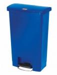 RUBBERMAID Slim Jim® Kunststoff-Tretabfallbehälter mit Pedal an der Breitseite 50 L