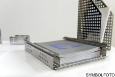 Graepel G-Line Pro Quadrotto Bürotisch Organizer aus Stahl schwarz lackiert (stapelbar)