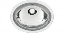 Franke ovales Einlege- und Unterbaubecken RNDH450-O aus Chromnickelstahl
