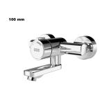Franke F3S-Mix Selbstschluss-Wandbatterie Auslauf 100mm F3SM1002 DN 15 als Eingriffmischer