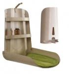 Set - Holz Wickeltisch Nathi Klappbar + Windelspender + 2 Auflage - Design Natur