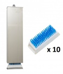 SET Bürstenspender aus gebürstetem Edelstahl inkl. 10 chirurgische Handwaschbürsten von Sanmed