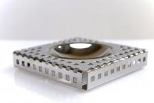Graepel G-Line Pro Quadrotto Aschenbecher aus poliertem Edelstahl 1.4016