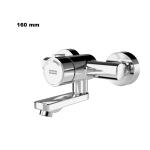Franke F3S-Mix Selbstschluss-Wandbatterie F3SM1003 DN 15 Ausladung: 160 mm als Eingriffmischer