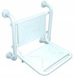 Fumagalli ausklappbarer Duschstuhl antibakterielle Nylonverkleidung - max. 180kg