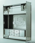 Graepel High Tech CD-Halter aus Edelstahl für das H2 oder H2 Giant Regalsystem