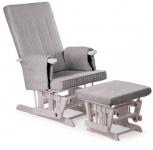 Childhome Design Stillstuhl mit Fußstütze - Grau