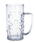 SET 12 St. Bier Krug 0, 5l SAN Glasklar Kunststoff Spülmaschinen fest, lebensmittelecht