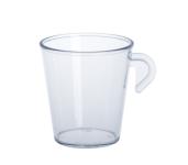 10er Set Espresso Tasse glasklar 0, 2l SAN aus Kunststoff wiederverwendbar