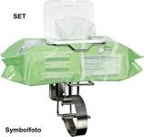 Reinigungsset für die Schnelldesinfektion von Wickeltischen und in Waschräumen