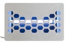Rossignol Kileo Insektenvernichter 15W aus pulverbeschichtetem Stahl mit Klebefolie