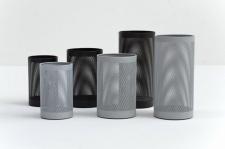 Graepel G-Line Pro FORATO Papierkörbe aus schwarzem Stahl 1.4016, 4 Größen
