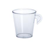 20er Set Espresso Tassen 0, 1l SAN glasklar aus Kunststoff