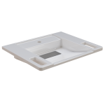 Franke EXOS. Einzelwaschtisch - Barrierefrei aus kunstharzgebundenem Mineralwerkstoff MIRANIT 600 mm breit