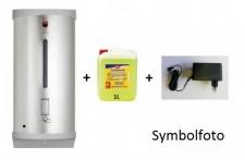 Set Dan Dryer berührungsloser Seifenspender aus Edelstahl + Adapter + 1L Schaumseife