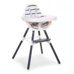 Childhome Evolu 2 Stuhl set navy blue / lange Füße und Tischplatte ABS