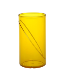 20 Stück Wasserglas 0, 25l SAN gelb aus Kunststoff wiederverwendbar