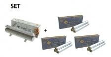 SET Effizienter Wrapmaster-Spender WM1000 und 3 Pack. Aluminiumfolie 1000