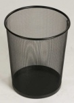 RUBBERMAID Concept Collection Abfalleimer Rund 19 L in Schwarz/Silber aus Stahl