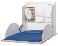 Wickeltisch aus hochwertigem Holz mit HPL-Beschichtung erhältlich in vier Farben