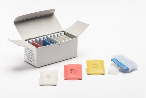 Kreidehalter und Schneiderkreide Kreide, ausbürstbar- Karton mit 10 Stück