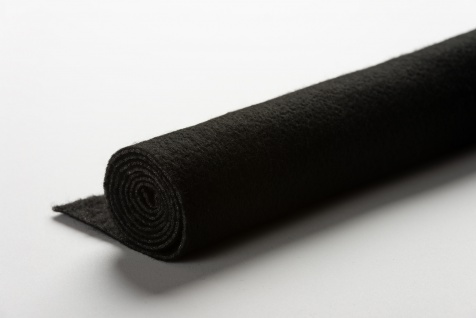 Filzeinlage, Nadelfilz, Flauscheinlage zum Einnähen in schwarz
