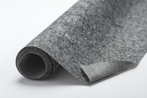 Fixiereinlage Vlieseinlage wie Vlieseline Farbe: anthrazit/ leicht 100m-Rolle