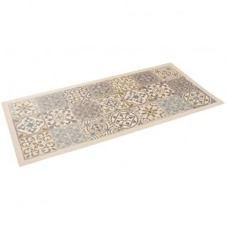 Vinyl Teppich Küchenläufer Evora Fliesenoptik Beige - Vorschau 2