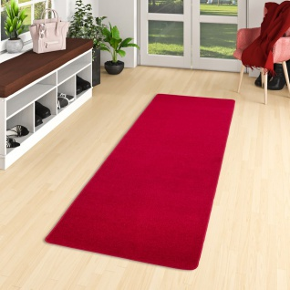 Trend Velours Läufer Teppich Joy Rot