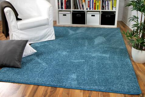 Hochflor Velours Teppich Mona Eisblau