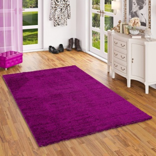 Hochflor Langflor Shaggy Teppich Aloha Purple
