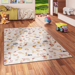 Kinder Spiel Teppich Velours Urwaldtiere Beige