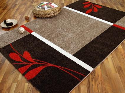 Designer Teppich Softstar Country Rot Braun Blumen