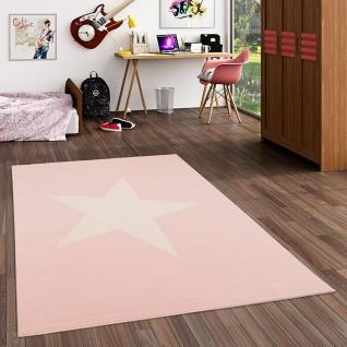 Kinder und Jugend Teppich Trendline Stern Pastell Rosa