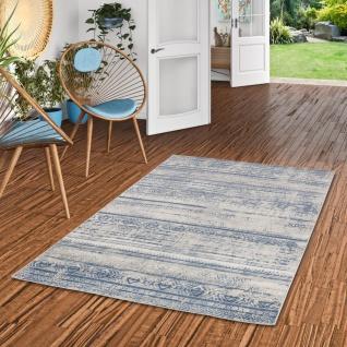 Designer Teppich Tawira Vintage Blau Trend