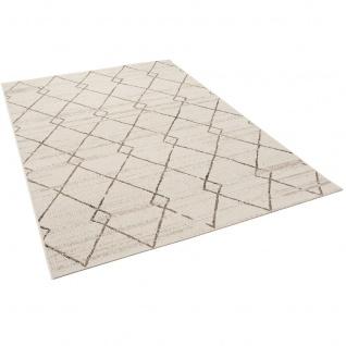 In- und Outdoor Teppich Flachgewebe Carpetto Beige Rauten - Vorschau 2