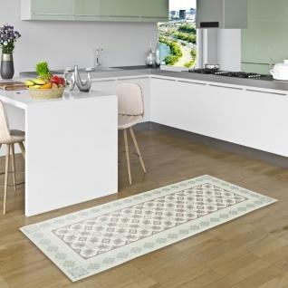 Vinyl Teppich Küchenläufer Evora Fliesenoptik Mintgrün - Vorschau 1
