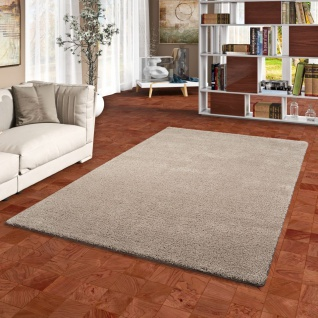 Hochflor Shaggy Teppich Palace Taupe